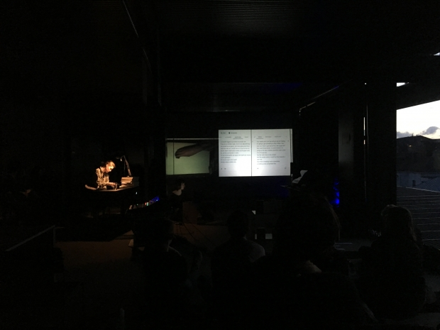 Creative Jam Session, Tumultingent #7, De Krook, Ghent, 8 May 2019, performed by Marie Borremans, Hanna Van Dun and DJ Dejade; curated by Mobina Mohammadi Tabar, Gabriella Torres and Monica Ruiz.